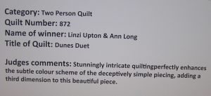 Dunes Duet Judges Comments