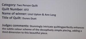 Dunes Duet Judges Comments