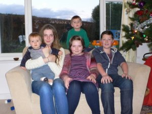 Five grandchildren together Dec 2013